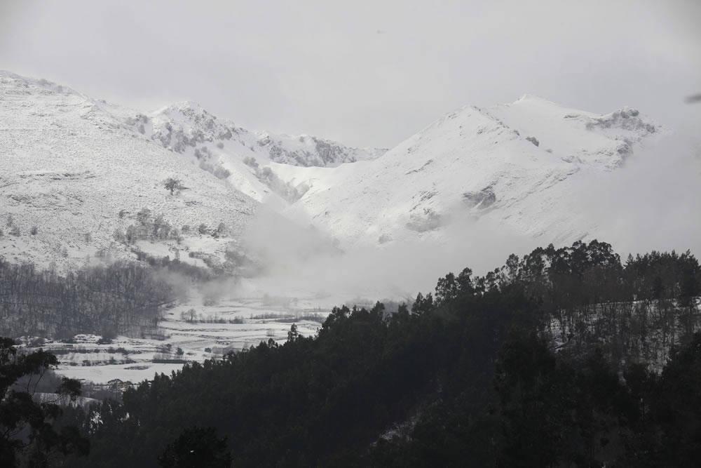 El Oriente asturiano recibió gran cantidad de nieve