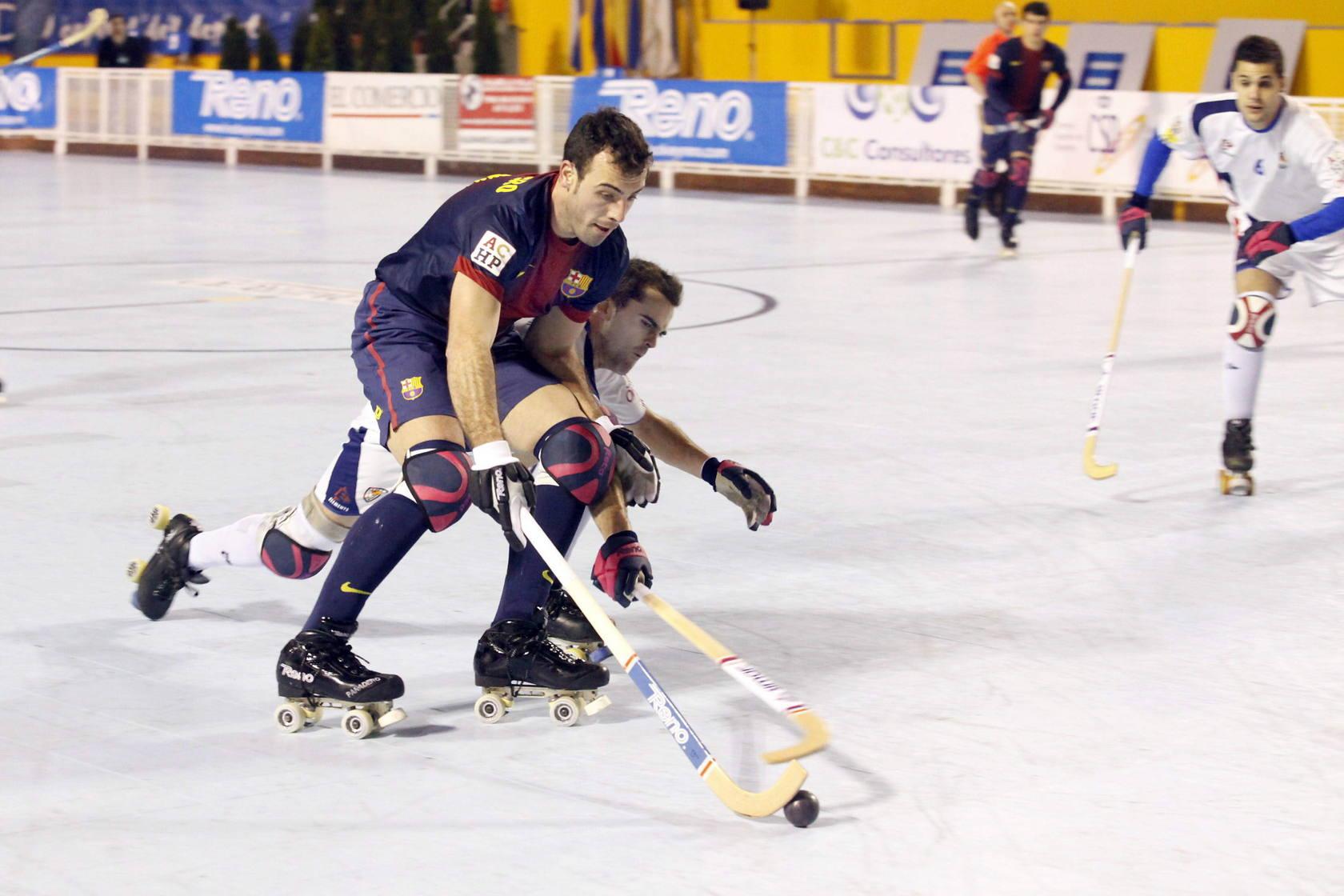 Segunda jornada de la Copa del Rey de hockey en Oviedo.